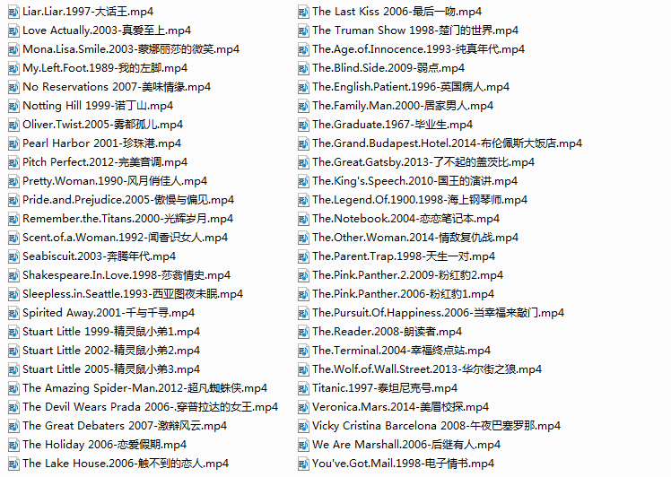 100部纯英文字幕电影-第二辑