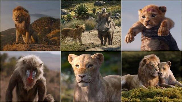狮子王真人版与动画版对比